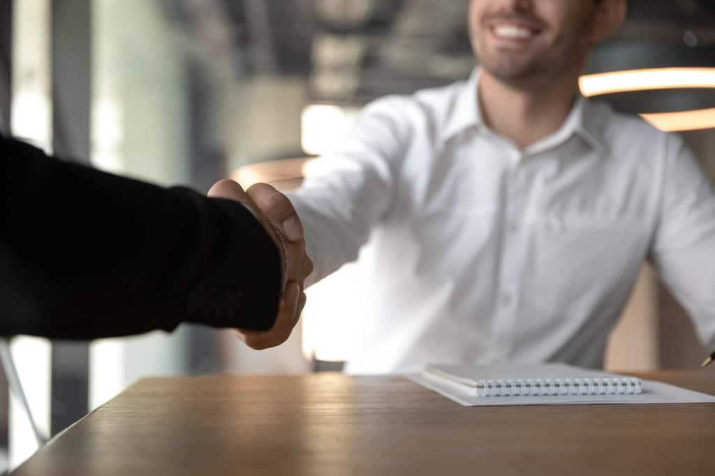 Führungskräfte bei einem Bewerbungsgespräch